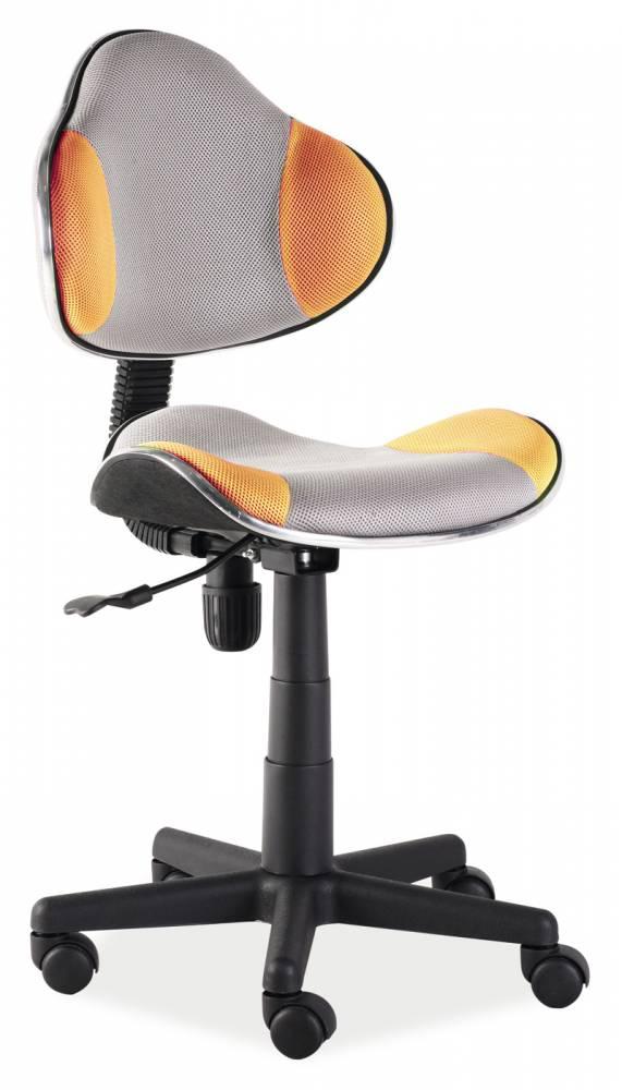 Kancelárske kreslo Q-G2 (oranžová + sivá)