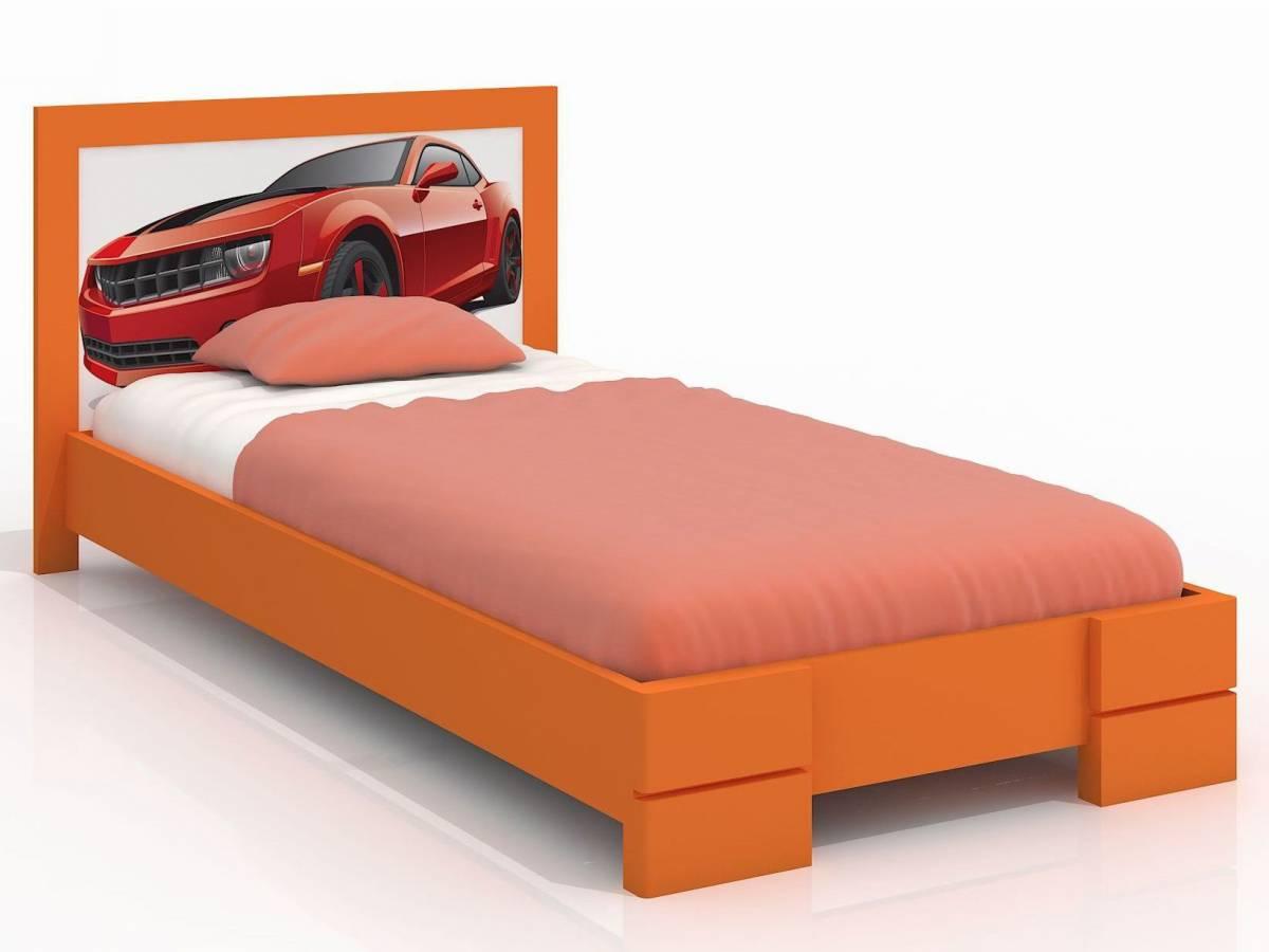 Jednolôžková posteľ 90 cm Naturlig Kids Storhamar (borovica) (s roštom)