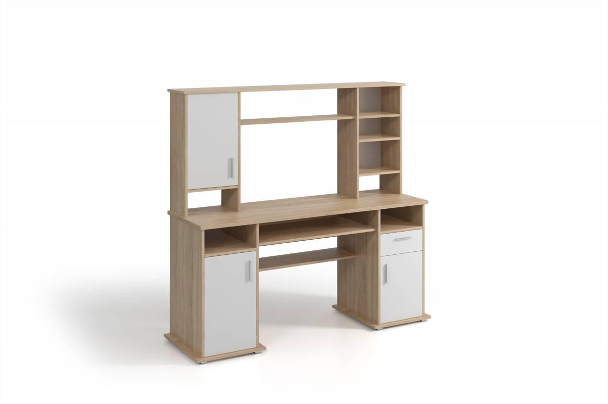 PC stolík Vigo (dub sonoma + biela)