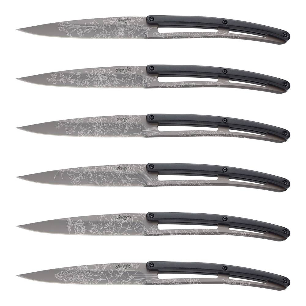 Súprava steakových nožov 6-dielna PaperStone®, titanium Blossom  + 10% zľava na celý nákup s kódom: LETO10