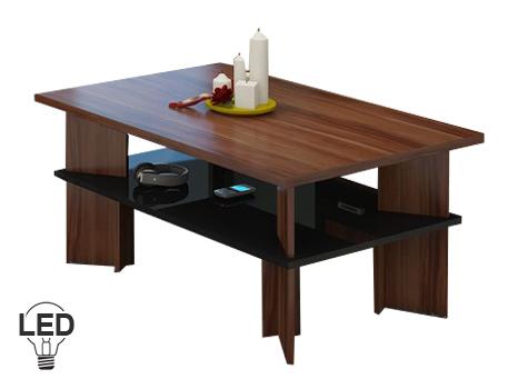 Konferenčný stolík Vectra 2 (slivka + lesk čierny)