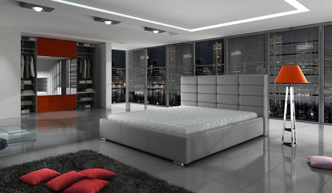 Luxusná posteľ FRANCE, 160x200 cm, madrid 115 + úložný priestor