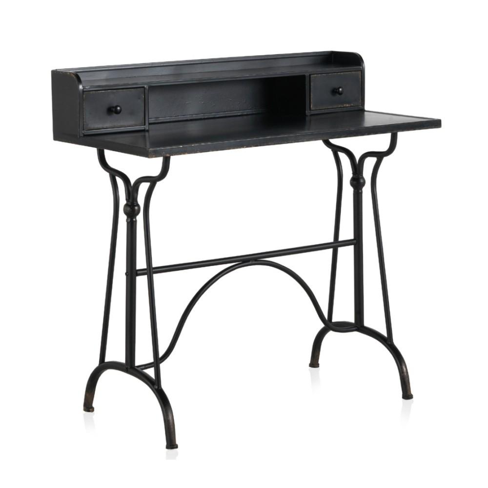 1f4b02b37e36 Dětský čierny kovový pracovný stôl Geese Gerome