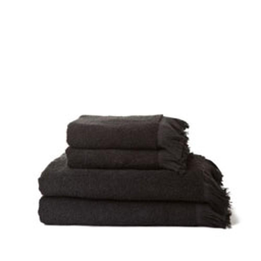 Sada 4 čiernych bavlnených uterákov a osušiek Casa Di Bassi Bath