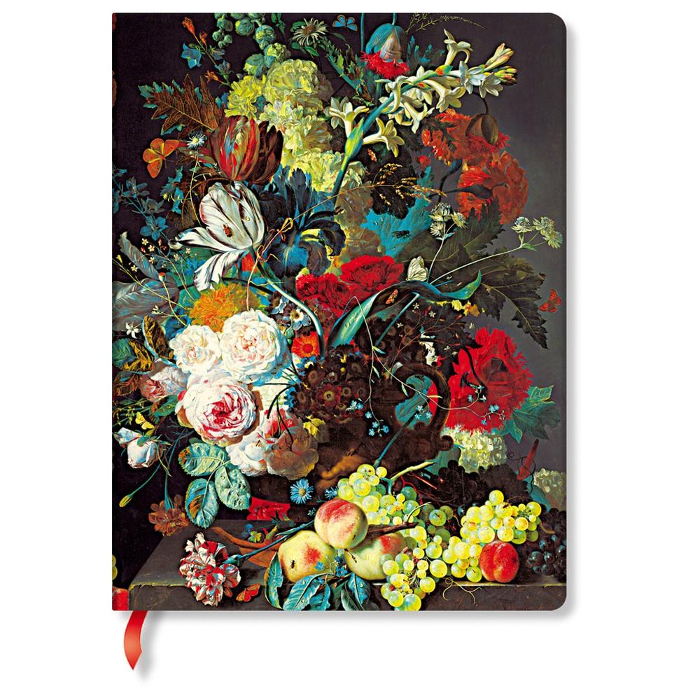 Linkovaný zápisník s tvrdou väzbou Paperblanks Van Huysum, 18 x 23 cm