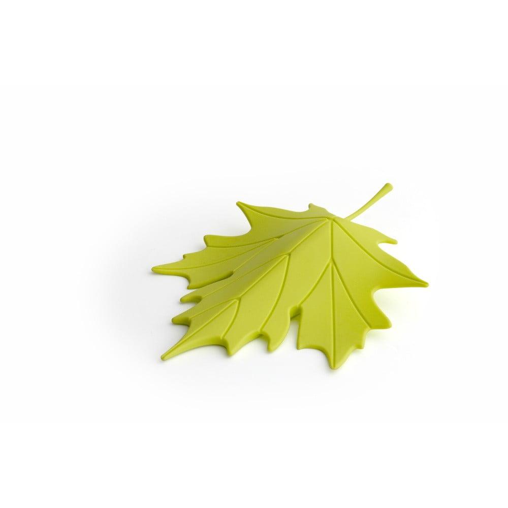 Zelená zarážka pod dvere v tvare listu Qualy&CO Autumn