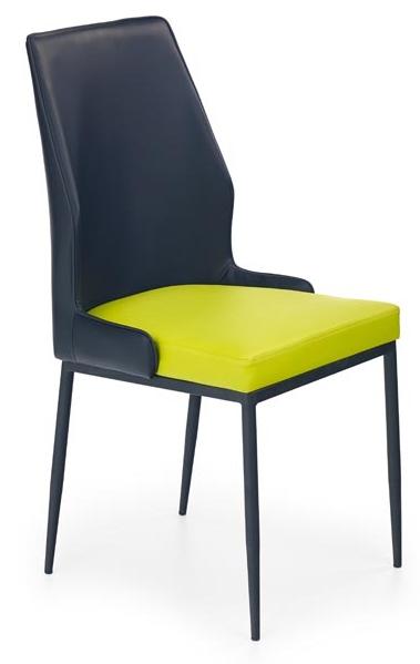 Jedálenská stolička K199 čierno-limetková