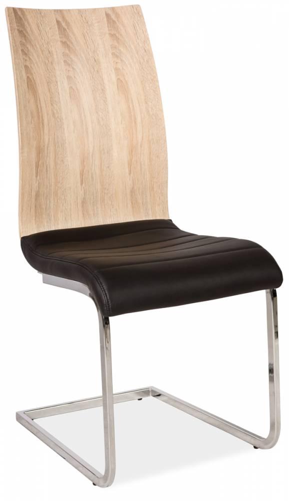 >> Jedálenská stolička HK-791 čierna-sonoma
