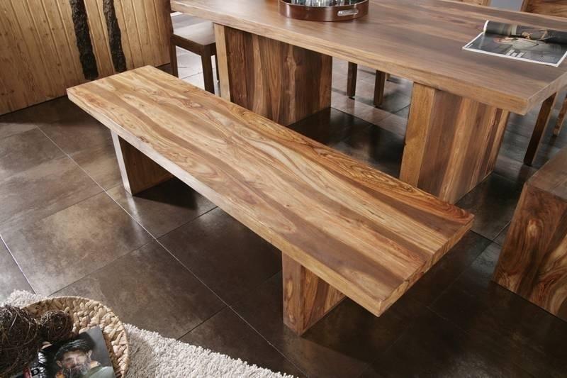 DUKE Sheesham lavica 200x45, masívne palisandrové drevo #108
