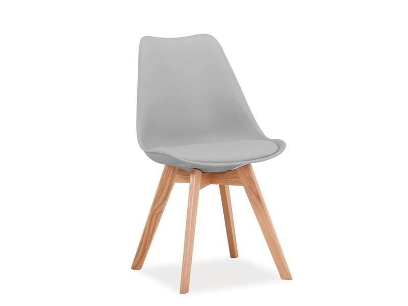 CRIS jedálenská stolička, dub/svetlá šedá