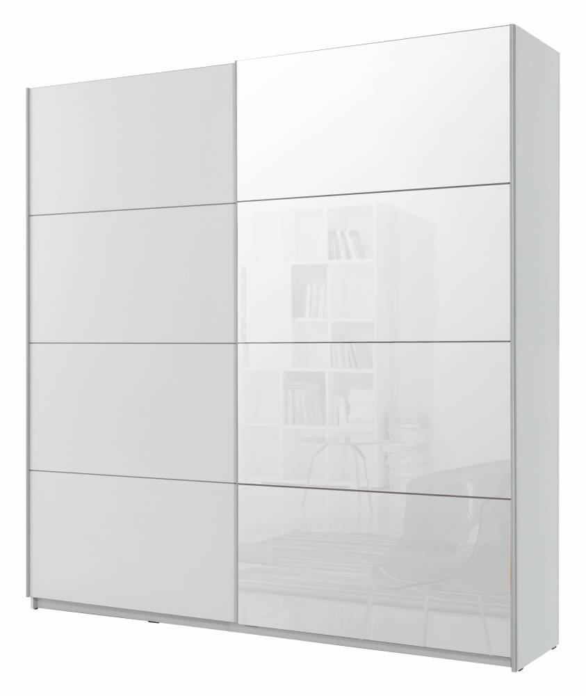 Šatníková skriňa Typ 57 (biela + zrkadlo)
