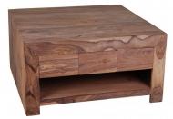 Furniture nábytok  Masívny konferenčný stolík z Palisanderu  Moín  85x85x45 cm