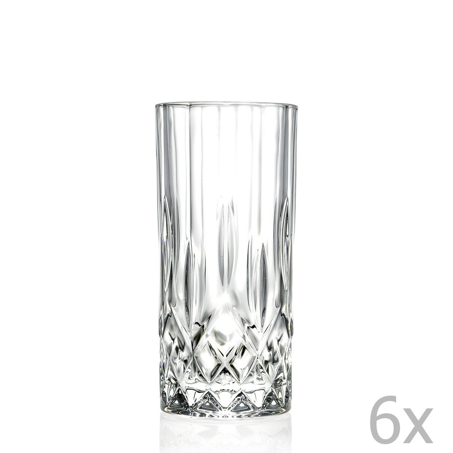 Sada 6 pohárov RCR Cristalleria Italiana Jemma