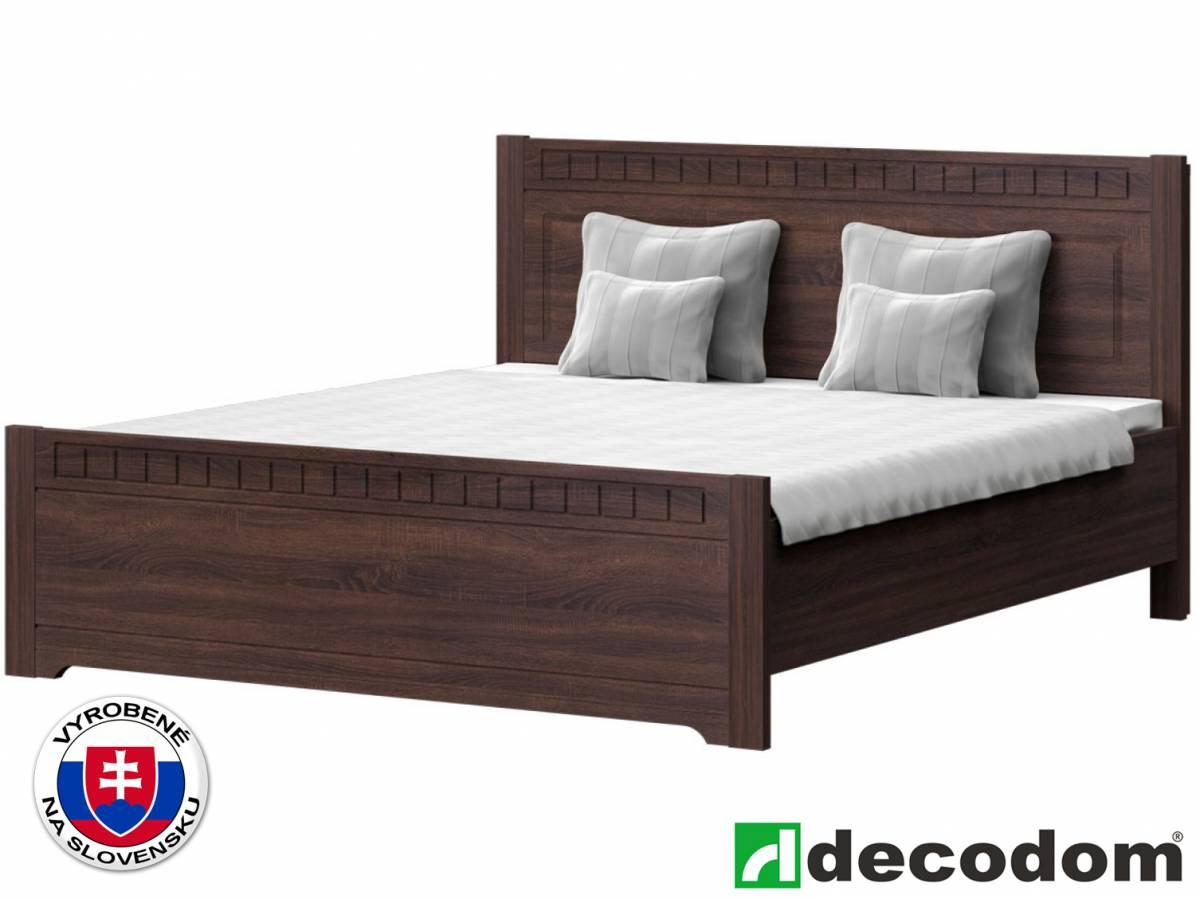 Manželská posteľ 180 cm Decodom Lirot Typ P-180 (dub pílený schoko)