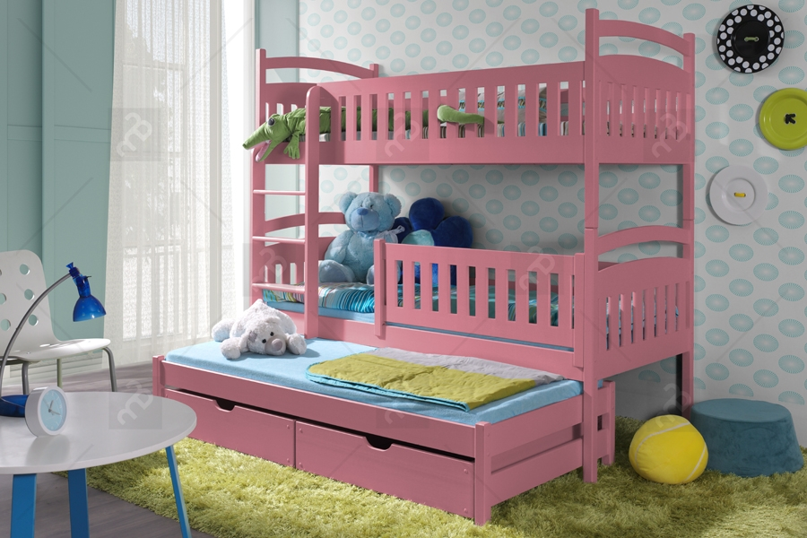 Nabytok-Bogart Poschodová posteľ ania 3-osobová 80 x 200