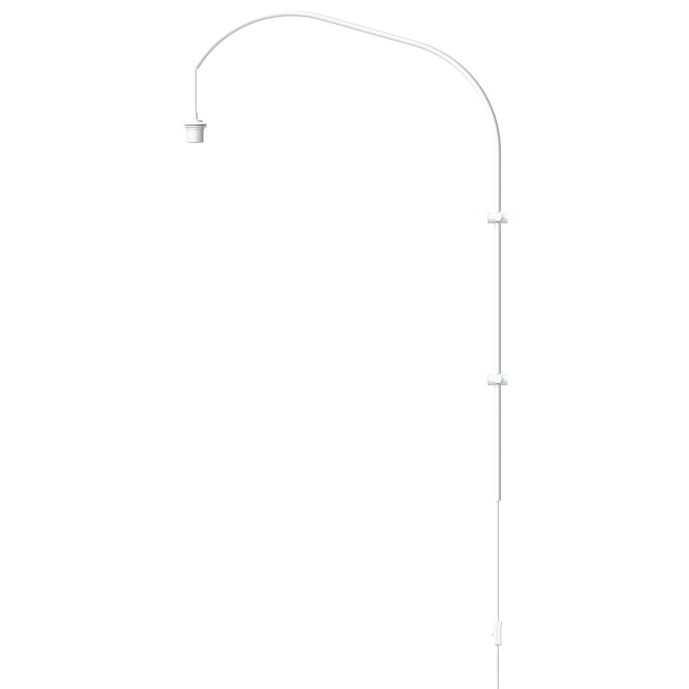 Biely stojan na svietidlá VITA Copenhagen Willow, výška 123 cm