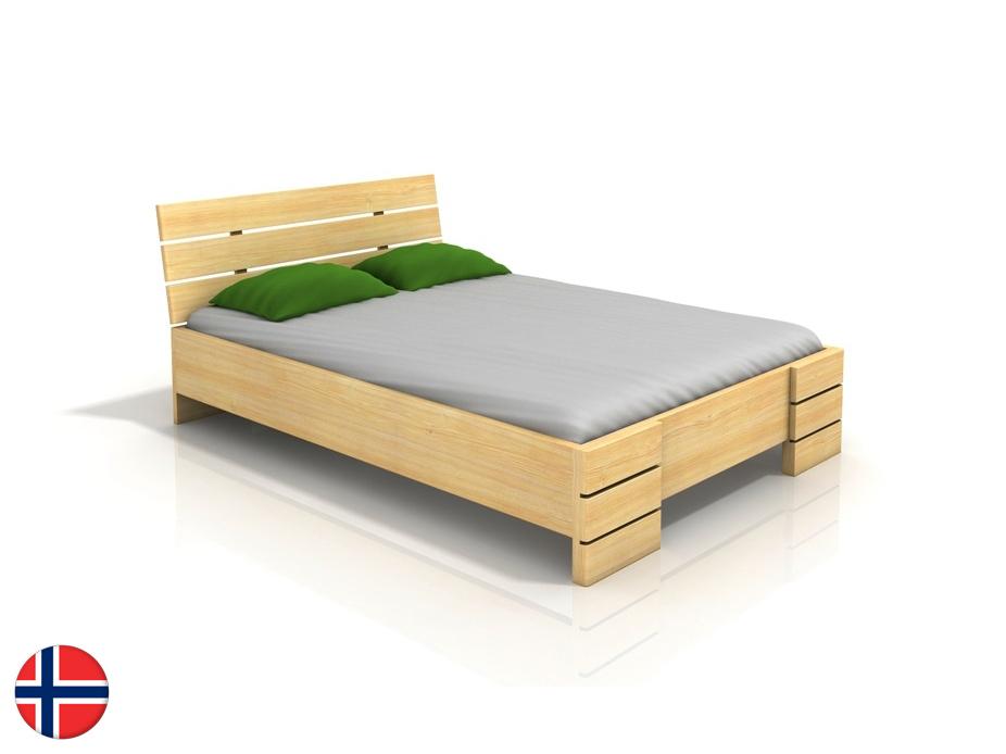 Manželská posteľ 180 cm Naturlig Lorenskog High BC (borovica) (s roštom)