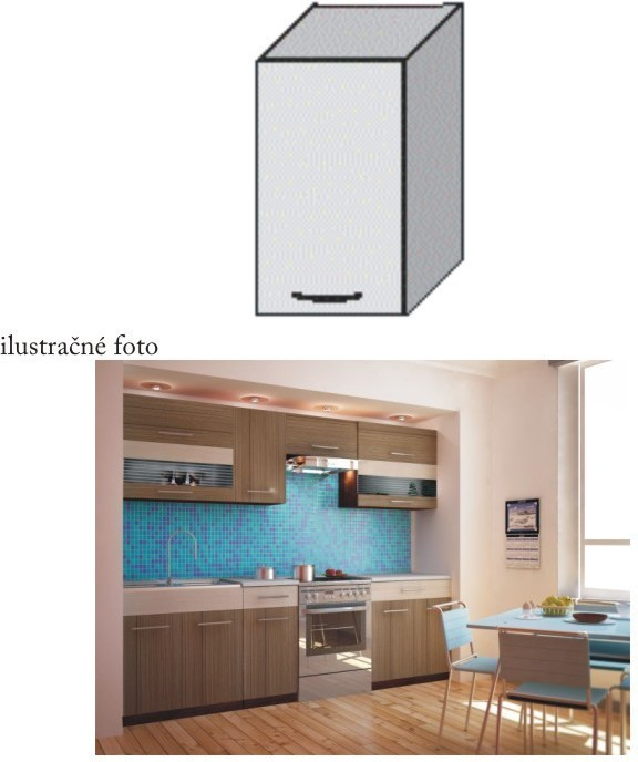 Kuchynská skrinka, rigoleto dark, JURA NEW I G-40