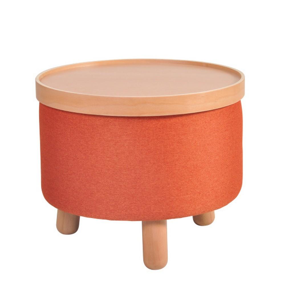 Oranžová stolička Garageeight Molde s odnímateľným vrchom, veľkosť L