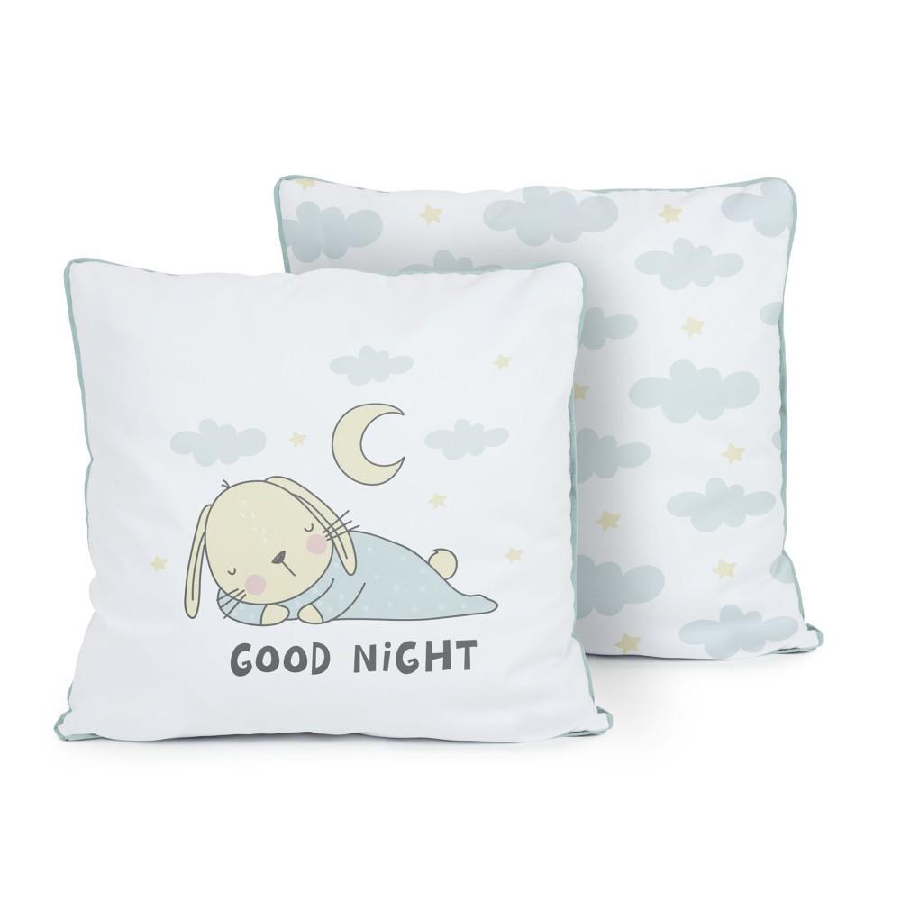 Obojstranný vankúš Tanuki Good Night, 50×50cm