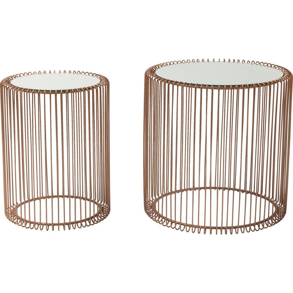 Sada 2 odkladacích stolíkov Kare Design Wire Copper