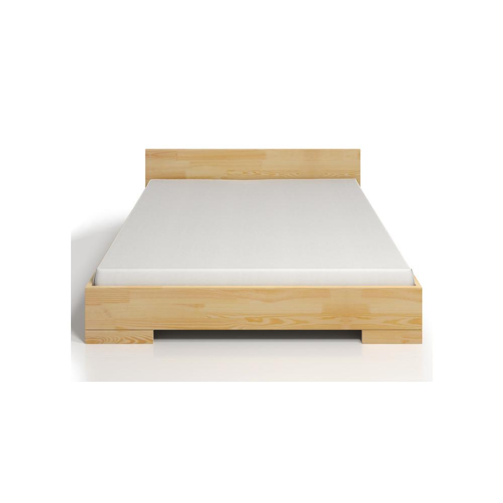Dvojlôžková posteľ z borovicového dreva s úložným priestorom SKANDICA Spectrum, 140x200cm