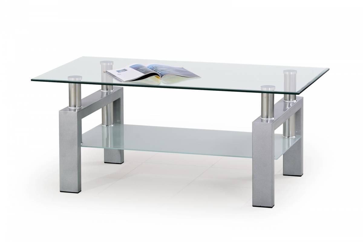 Konferenčný stolík Diana strieborná