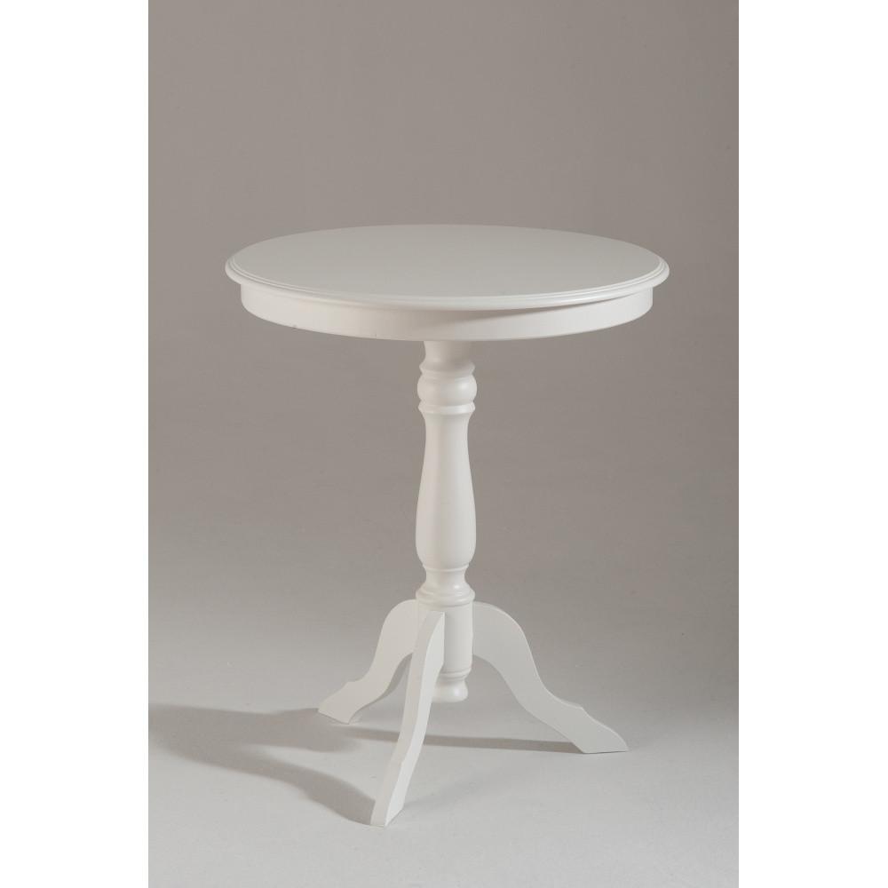 Biely drevený odkladací stolík Castagnetti Isabeau