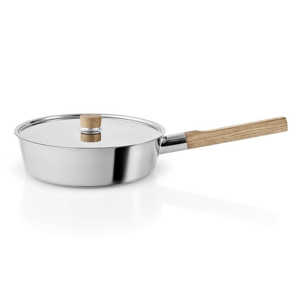 Panvica na soté s drevenou rukoväťou Nordic kitchen nehrdzavejúca oceľ Ø 24 cm