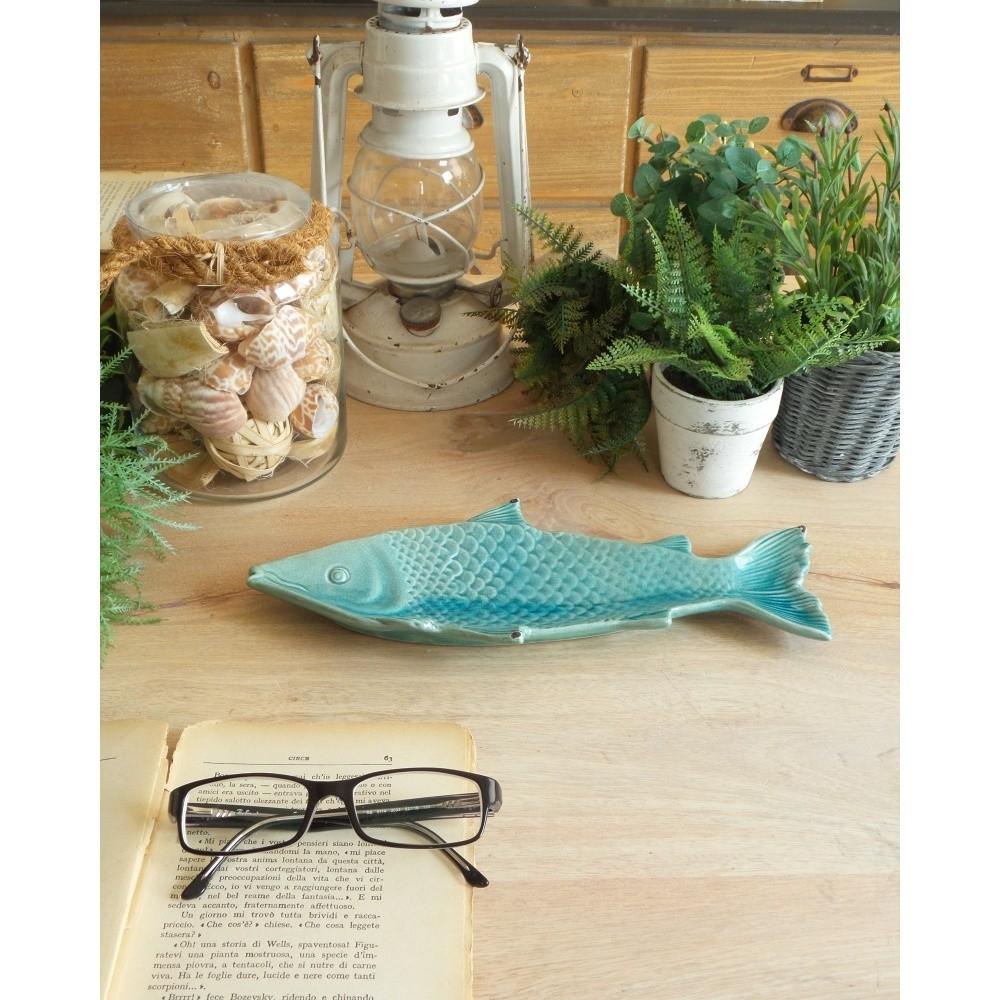Tyrkysová keramická dekoratívna miska Orchidea Milano Fish
