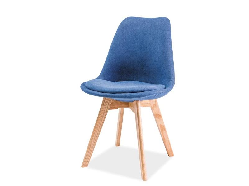 CHRISTIAN jedálenská stolička, dub/modrá
