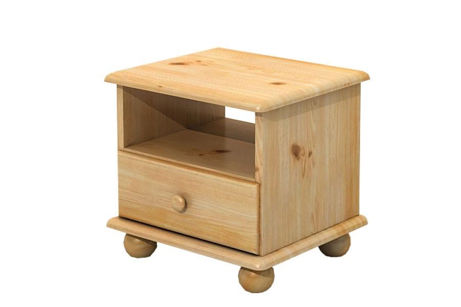 Bradop Nočný stolík, masív borovica B201