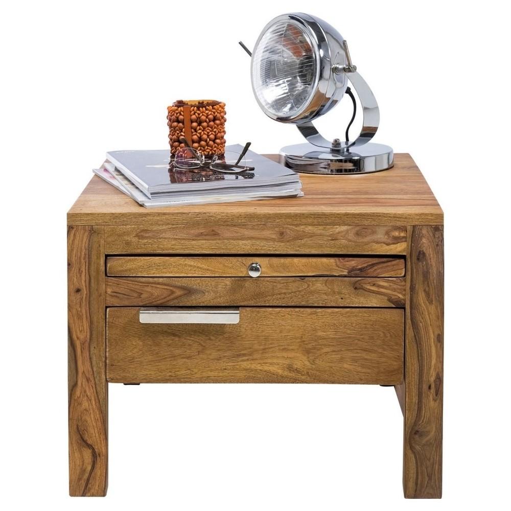 Drevený nočný stolík Kare Design Authentico, 50 x 50cm