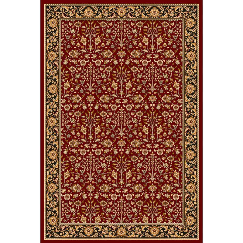 Kusový koberec Agnella Isfahan ITAMAR rubin,vlnený, 80x120cm
