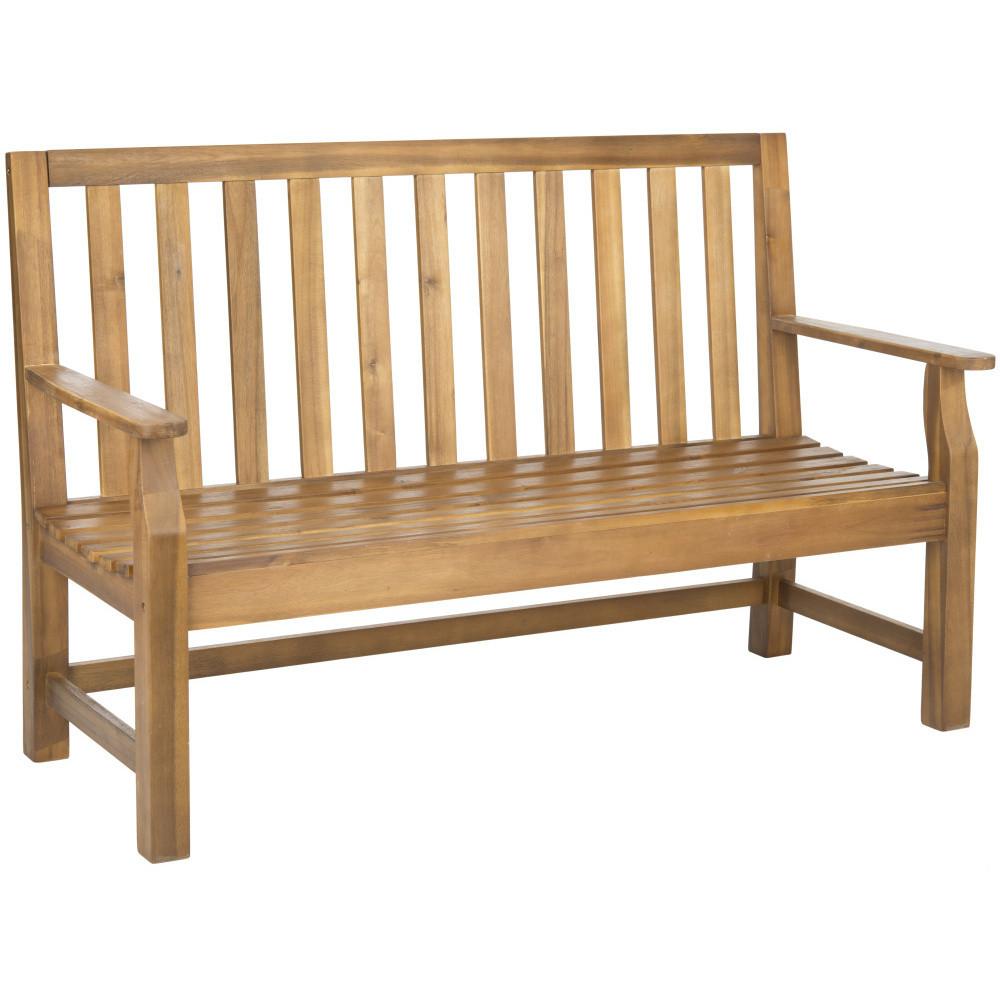Hnedá vonkajšia drevená lavica Safavieh Havana