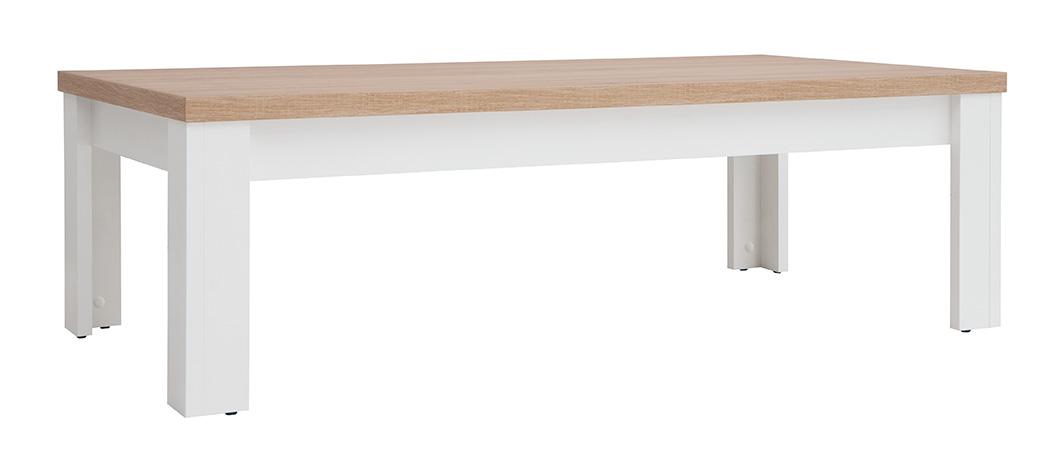Konferenčný stolík Lawa 4/13 (dub sonoma + biela)
