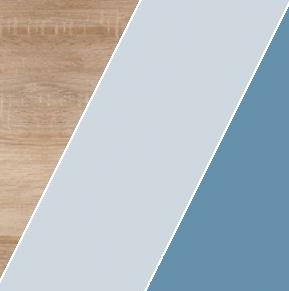 Šatníková skriňa KITTY 13   Farba: Dub sonoma svetlá / blankytná / modrá