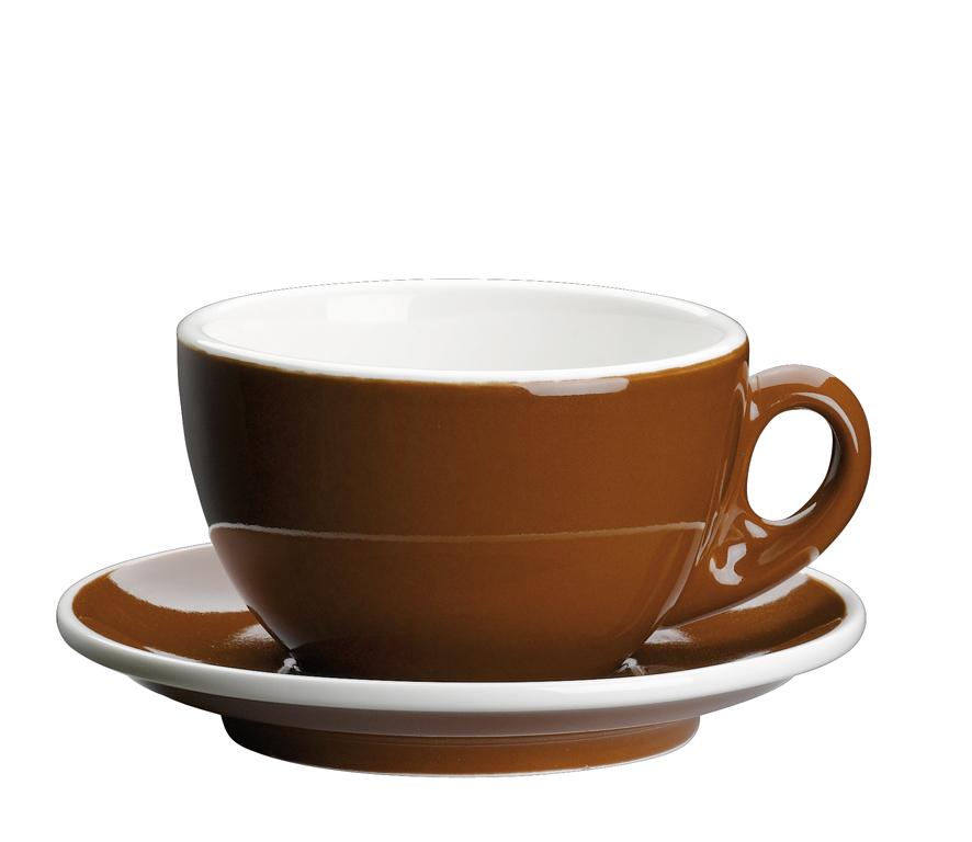 Šálka na cappuccino s podšálkou Roma hnedá 200 ml