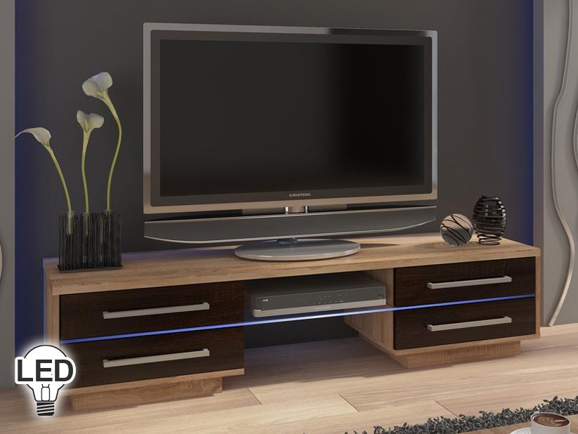 TV stolík/skrinka Laguna (sonoma svetlá + tmavá)