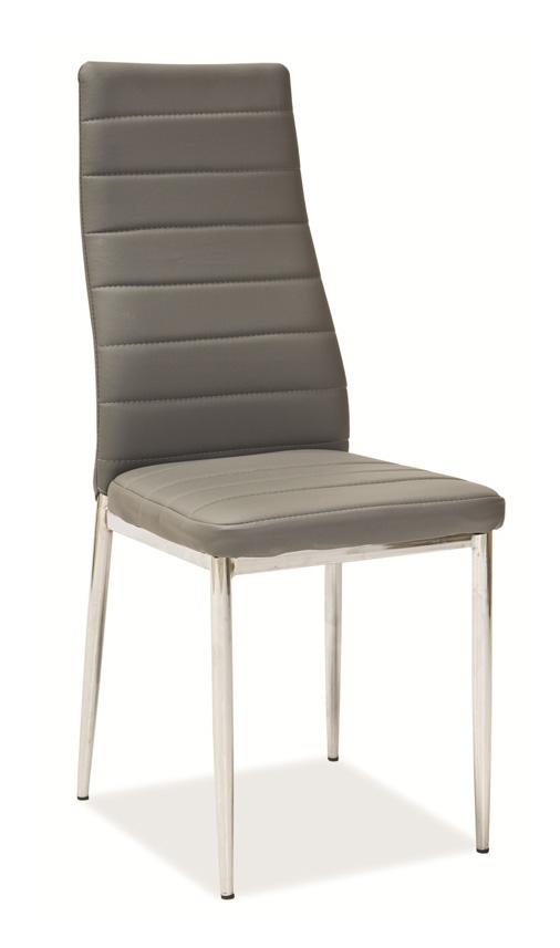 Jedálenská stolička VERME, šedá/chróm