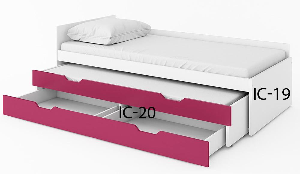 >> ISE horná posteľ s matracom IC-19