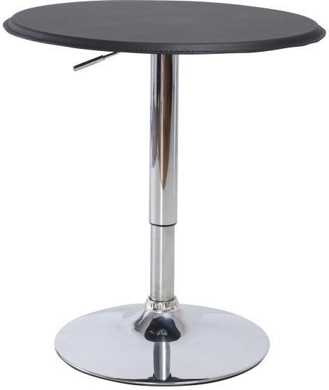 Barový stôl, s nastaviteľnou výškou, chróm/čierna, BRANY