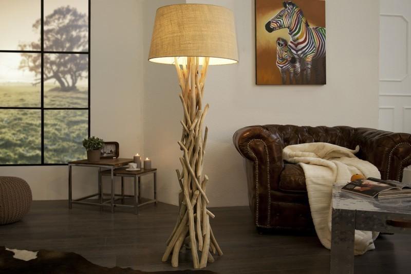 Stojaca lampa CLARA 155 cm - prírodná