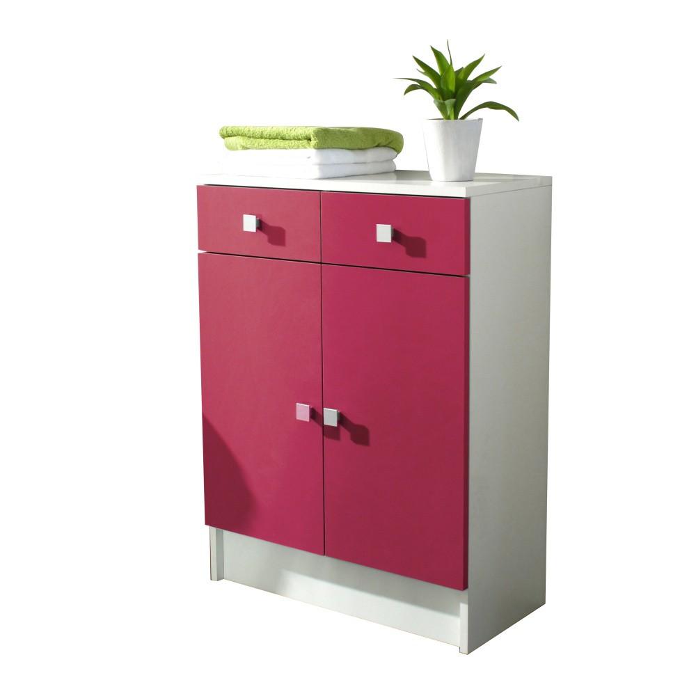Ružová kúpeľňová skrinka Symbiosis André, šírka 60cm
