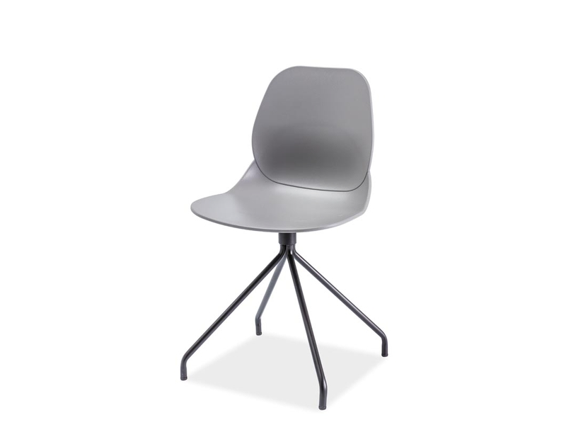 OMEGA jedálenská stolička, čierna/sivá