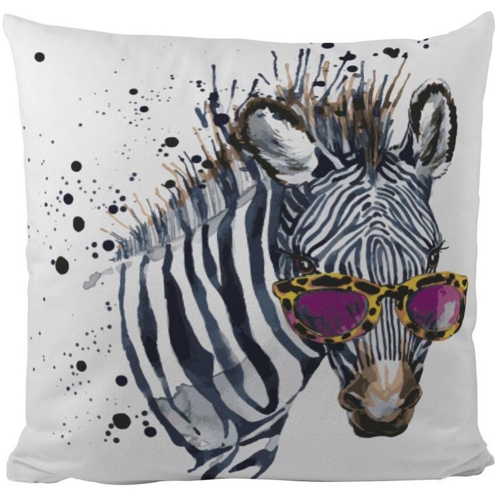 Butter Kings Vankúš Cool zebra, 50 x 50 cm