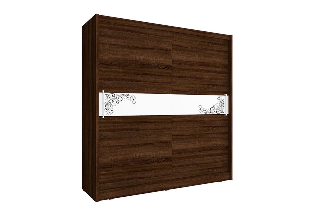 Šatníková skriňa WHITNEY 5 B, 200x214x62 cm, čokoláda