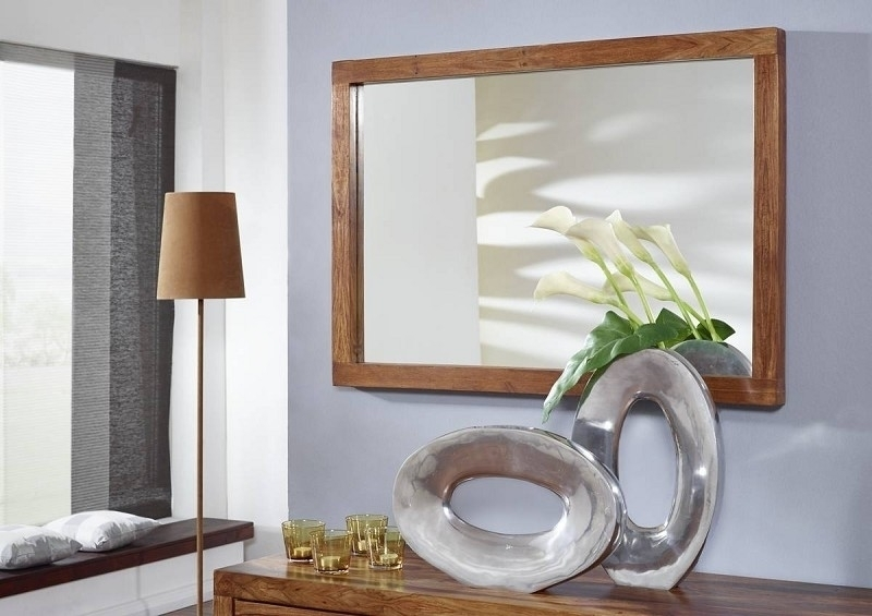 DUKE #129 Sheesham zrkadlo, masívne palisandrové drevo
