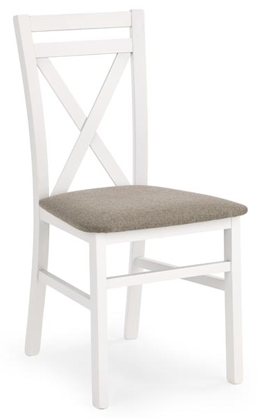 Jedálenská stolička Dariusz biela