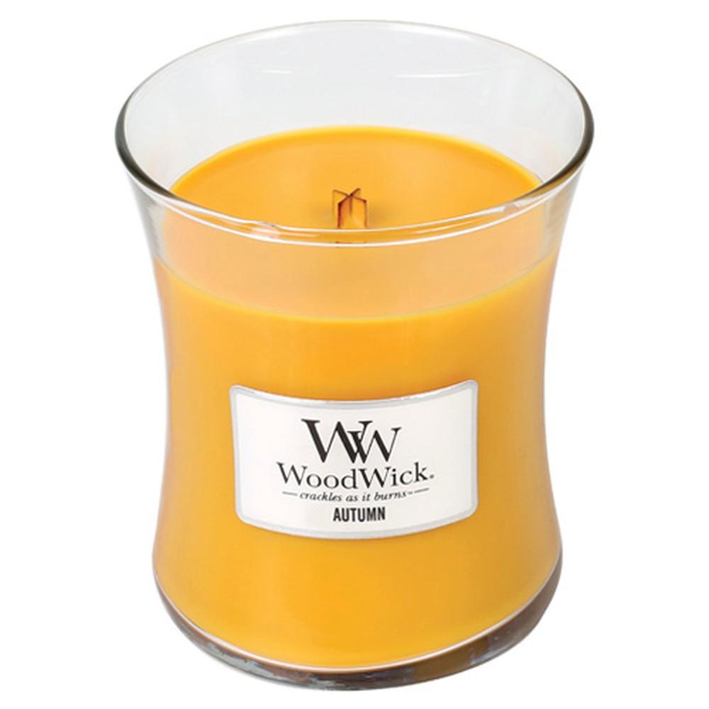 Vonná sviečka WoodWick Jesenné ráno, 275 g, 60 hodín